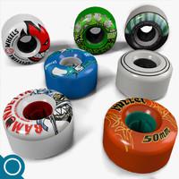 3d skateboard wheel model