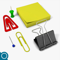 free clips pins 3d model