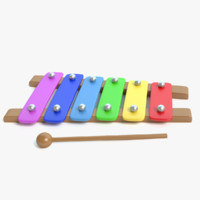 toy xylophone 3d model