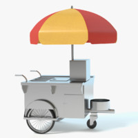 hotdog cart 3d model
