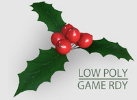 mistletoe berry leaf 3d fbx