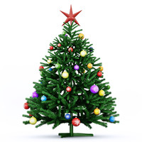 green christmas tree 3d max