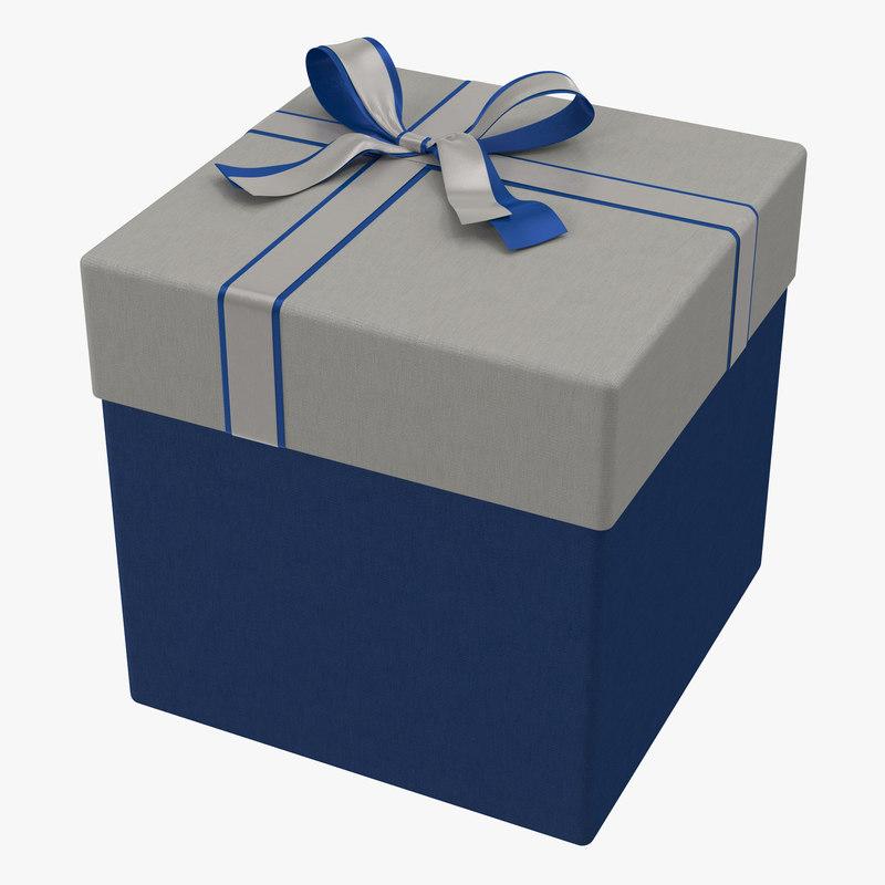 Giftbox Blue 3d model 00.jpg