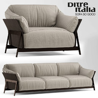 3d model sofa armchair ditre