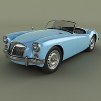 mg mga mk2 3d model