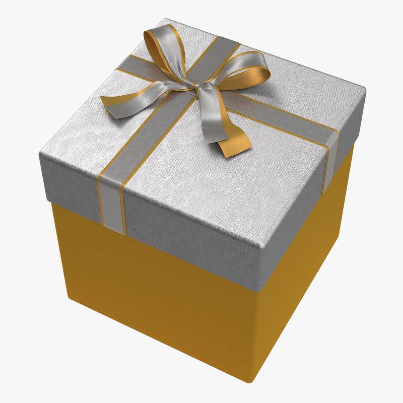 Giftbox Golden 3d model 00.jpg