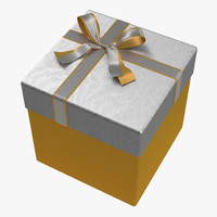 3d giftbox 3 yellow model