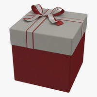 3ds max giftbox 3 red