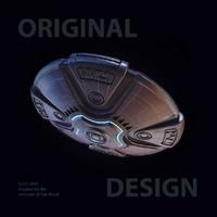 3d model of sci-fi ufo
