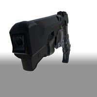 semi futuristic gun 3d x