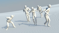 3ds max casual people