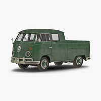 volkswagen type 2 double 3d 3ds