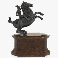 3d model of leonardo da horse