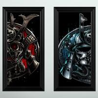 3d poster samurai evil model