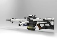 3d modern gun