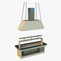 3d model pavilion trade