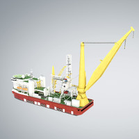 3d pipelay crane vessel sk model