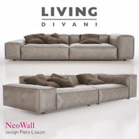 living divani - neowall 3d max