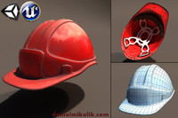 safety helmet unity unreal 3d model