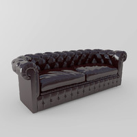 chesterfield traditional tufted 3d obj