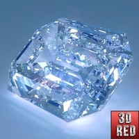 diamond emerald cut obj