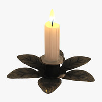 3d model candle flame light