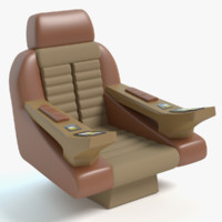 3d captains chair star trek model