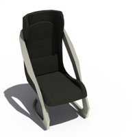 3d model twin chair office