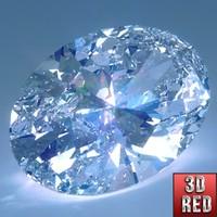 3dsmax diamond oval cut