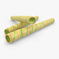realistic wafer rolls matcha 3ds