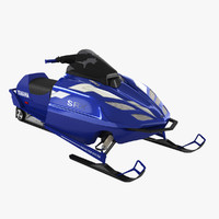 3d yamaha srx 700 snowmobile model