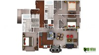 3D Luxury Floor Plans Design For Residential Home