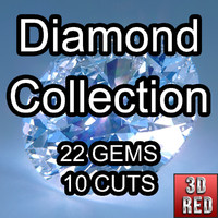 cuts diamonds 3d model