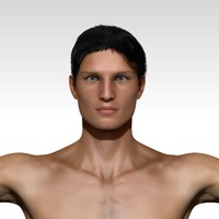 3d model realistic zbrush male character