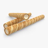 realistic wafer rolls vanilla 3d model