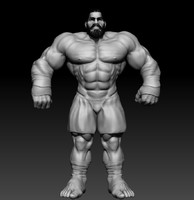 3d zbrush muscular male model