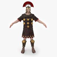 3d roman armor set model