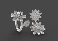 stl ring flower 3dm
