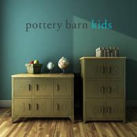 3d pottery barn kids metal model
