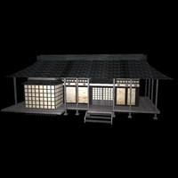 japonese house 3d model