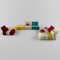 Modular sofa with elements COURSE