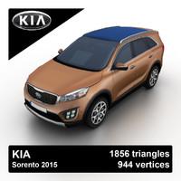 3d kia sorento 2015 suv model