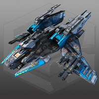 scifi bomber x4 3d max