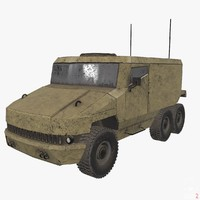 3d model of armored military vehicle