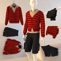 clothing men s 3d model