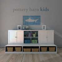 3ds max pottery barn cameron storage