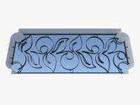 wrought iron fence metal 3d 3ds