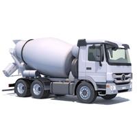mercedes actros mixer truck 3d 3ds