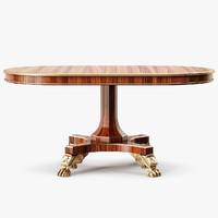 baker centre table 3d max
