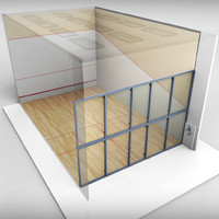 3ds max squash sport tennis court